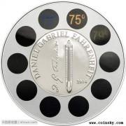 帕劳2014年华氏温度纪念实用温度计银币