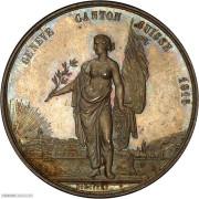 PCGS-SP64 1851年瑞士日内瓦纪念银章