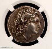 NGC评级公羊角古希腊亚历山大大帝艺术性好