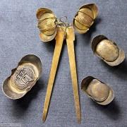 苏工银鎏金元宝 一组 5枚