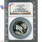 1999年兔年生肖1盎司加厚银币NGCPF68分