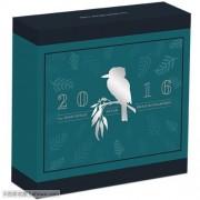 2016年 澳大利亚 翠鸟 8元5盎司 高浮雕 精制银币 盒证齐全