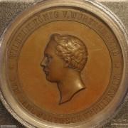 【德藏】德国1900年前后符腾堡农业题材铜章 PCGS SP64