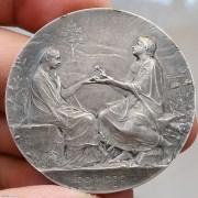 【德藏】法国永恒的爱结婚纪念银章 罗蒂经典作品
