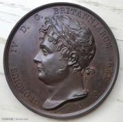 英國1821年喬冶四世登基紀念銅章