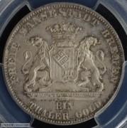 【德藏专卖】德国1865年不莱梅射击节泰勒 MS65