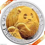2017年中国熊猫金币发行35周年纪念双金属金银币(裸币)