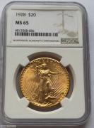 NGC  MS65 美国行走女神圣高登斯鹰洋金币1928年20元大金币 33.43克 900金,高级品相 少见