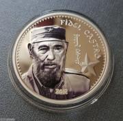 蒙古2017年菲德尔卡斯特罗纪念银币