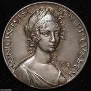 【德藏】德国1910年普鲁士王后露易丝逝世百年纪念银章 哥茨作品
