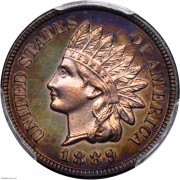 PCGS-PF66 1889 Indian Cent