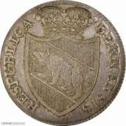 【德藏】瑞士1818年伯尔尼汝拉泰勒银章 PCGS MS62