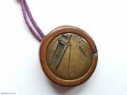 1868-1912年 日本 竹子刻铜 根付