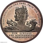 PCGS-SP62 1800年普鲁士新世纪祝愿银章