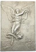 【德藏】法国1900年巴黎世博会矩形大银章