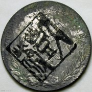 1896年墨西哥鹰洋 大豐號墨戳