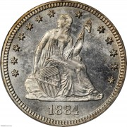 PCGS-MS65 1884 Liberty Seated Quarter