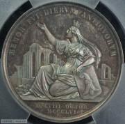 【德藏】瑞士1856年巴塞尔大地震500周年纪念大银章 PCGS SP65
