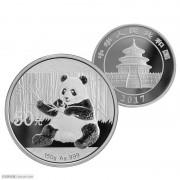 2017年熊猫150克银币