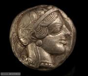 精美的古希腊雅典城邦雅典娜和猫头鹰银币