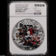 NGC PF69 2011年《水浒传》第(3)组-忠义堂公斤银币