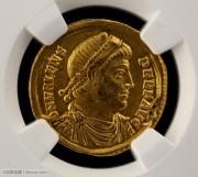 东罗马帝国早期皇帝瓦伦斯金币-NGC评级近未流通