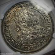1604年神圣罗马帝国皇帝鲁道夫二世胸像泰勒银币,NGC MS-63(最高分)