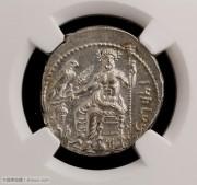NGC评级古希腊西利西亚塔尔苏斯城狮子捕牛银标币