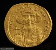 拜占庭皇帝君士坦斯二世皇帝十字架金币