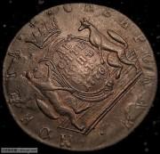 1776年沙俄西伯利亚10戈比大铜币