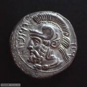 公元前380至374年,塔尔索斯城斯塔德银币,波斯总督法那巴苏斯时期