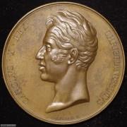 【德藏】法国1825年查理十世登基加冕大铜章
