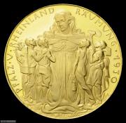 【德藏】德国1930年莱茵兰解放海神金章 卡尔哥茨作品
