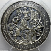 PCGS-SP63 1892年苏黎世射击节奖章