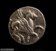 古希腊银币名誉稀少飞马和爱神阿芙洛狄忒银币