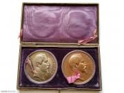 1855年法国 万国博览会 银铜原盒套章 博物馆级精品