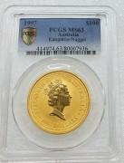 PCGS MS63 澳大利亚 1997年 100元 袋鼠 大金币 含纯金 1 盎司 9999金