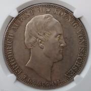 【德藏】德国1854年萨克森国王逝世双神2泰勒 NGC MS62