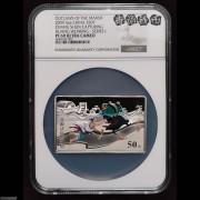 NGC PF69 2009年水浒传第(1)组-张顺活捉黄文炳5盎司精制彩银币