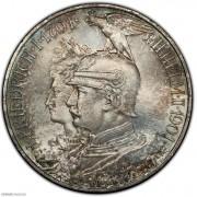 【德藏】德国1901年普鲁士建国200周年5马克银币 PCGS MS66