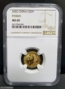 2002年熊猫金币1/10盎