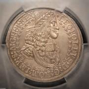 1680年奥地利2泰勒, PCGS MS-62