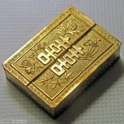 银鎏金双喜梅兰竹菊方盒(晋福款)