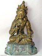 虚空藏菩萨铜鎏金佛造像