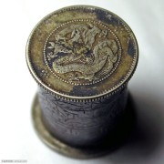 民国鸦片烟膏银毫筒盒