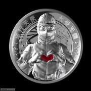 全新 逆行天使-大爱无疆纯银纪念章