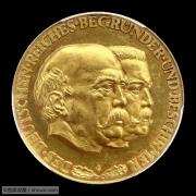 【德藏】德国1931年德意志帝国60周年俾斯麦兴登堡金章 PCGS SP62