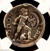 NGC评级古希腊春天女神泊瑟芬和特洛伊英雄银币