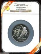 1990年NGC69级5盎司第16届冬季奥运动会纪念银币普通棕标