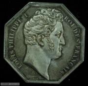 【德藏】法国八角代用币银质Jeton BU